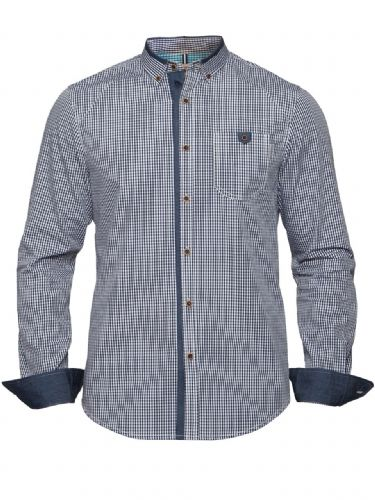 MISH MASH MEN'S DESIGNER GRILL GINGHAM CHECK LONG SLEEVE BUTTONED CASUAL SHIRT